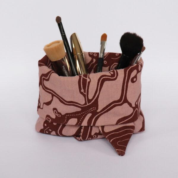 Makeup bag red